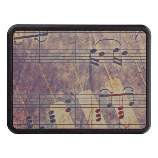 Music, vintage look B Trailer Hitch Cover