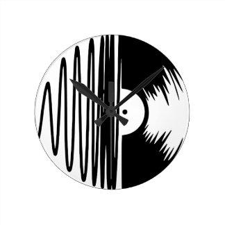 music Vinyl Round Clock