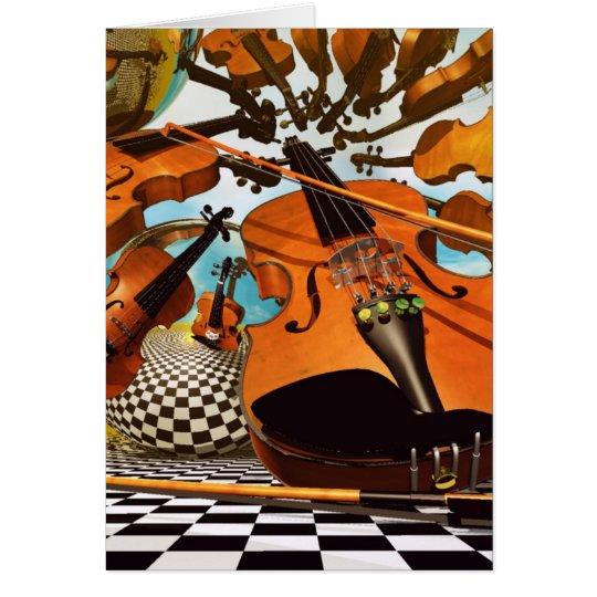 Music Violin Card
