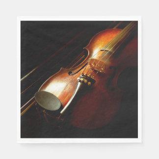 Music - Violin - The classics Disposable Napkin