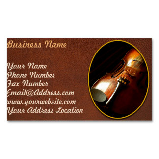 Music - Violin - The classics Magnetic Business Card