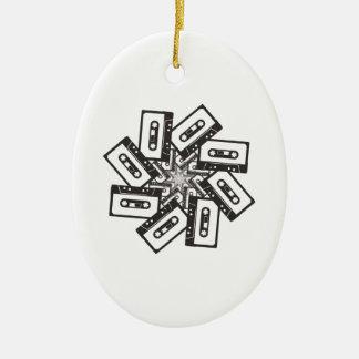Music Whirl Ceramic Ornament