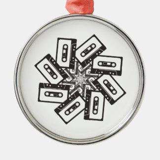 Music Whirl Metal Ornament