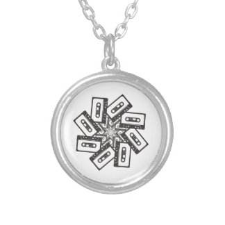 Music Whirl Silver Plated Necklace