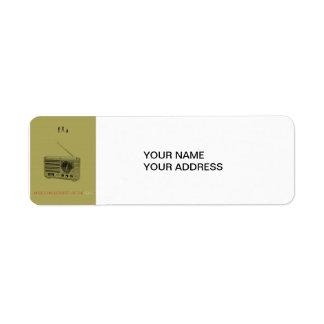 Music world return address label