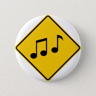 Music Zone Highway Sign 2 Inch Round Button