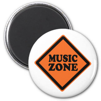 Music Zone Road Sign Magnet