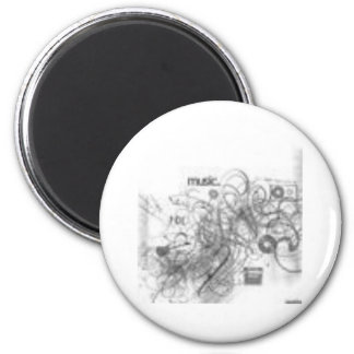 musical 2 inch round magnet