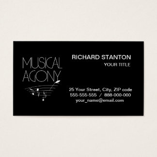 Musical agony business card