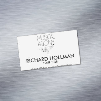 Musical agony magnetic business card