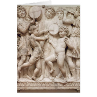Musical angels, relief from the Cantoria Card