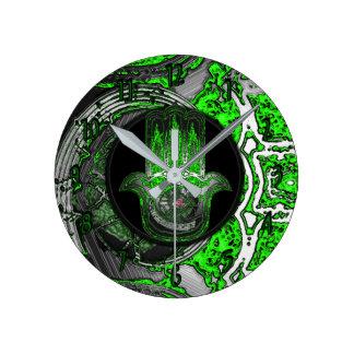 Musical Awakening (Greenish) Round Clock