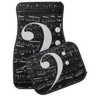 Musical Bass Clef sheet music Auto Mat