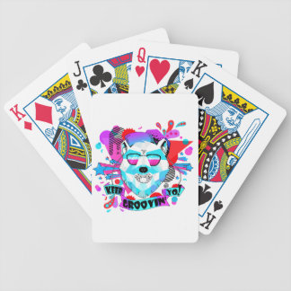 Musical Bear Bicycle Playing Cards