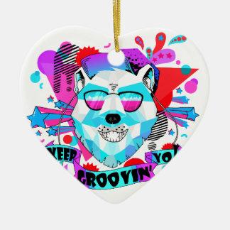 Musical Bear Ceramic Ornament