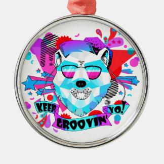 Musical Bear Metal Ornament
