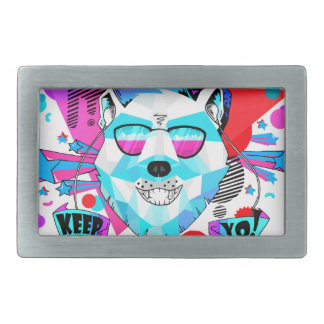 Musical Bear Rectangular Belt Buckle