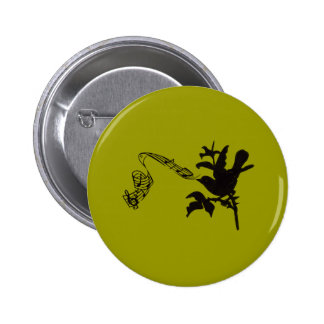 Musical Bird Change Colors 2 Inch Round Button