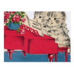 Musical Birthday Kittens Post Cards