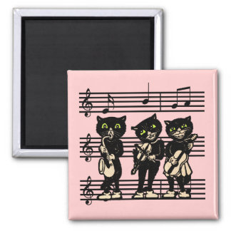 Musical Black Cats Magnet