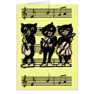 Musical Black Cats Note Card