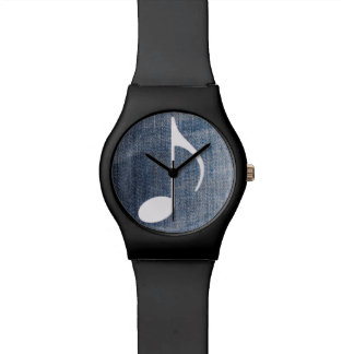 musical blue jeans watch