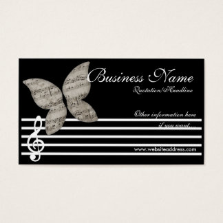 Musical Butterfly Business Cards