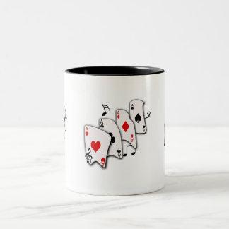 Musical Cards -Mug Two-Tone Coffee Mug