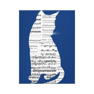 Musical Cat Canvas Print