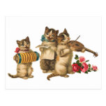 Musical Cats Post Card