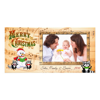 Musical Christmas Greetings Photo Card Template