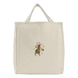 Musical Christmas - Reindeer Canvas Bags