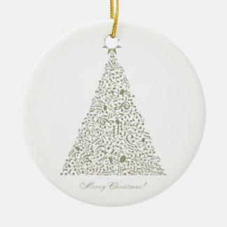 Musical Christmas tree Ceramic Ornament