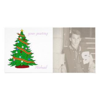 Musical Christmas Tree Customized Photo Card