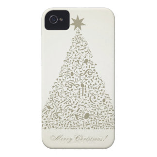 Musical Christmas tree iPhone 4 Cases