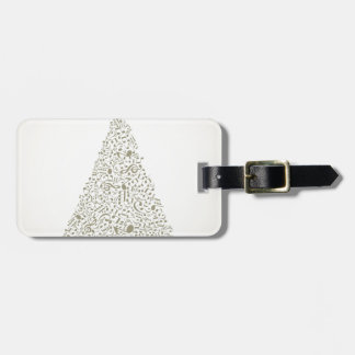 Musical Christmas tree Luggage Tag