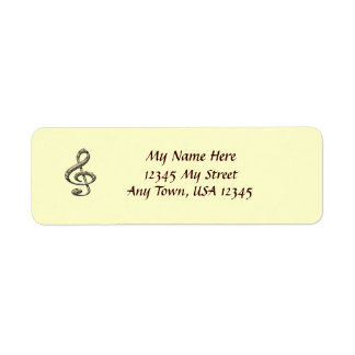 Musical Clef Return Address Labels