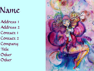 Kids fashion business cards business card printing zazzle ca musical clown business card colourmoves