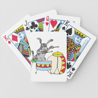Musical Dog playing drums Bicycle Playing Cards