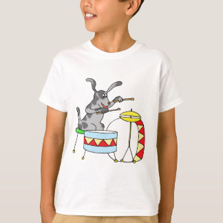 Musical Dog playing drums T-Shirt