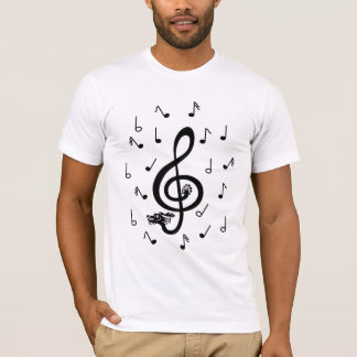 Musical Dragon treble clef notes Shirt