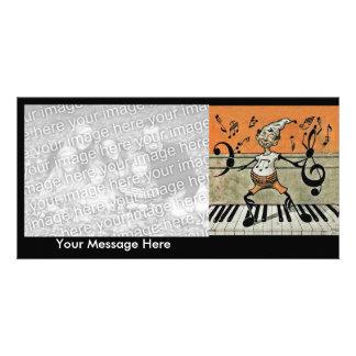 Musical Elf Goblin Piano Music Notes Photo Greeting Card
