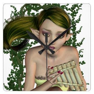 Musical Elf Wall Clock