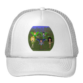 Musical Faerie Band in Enchanting Field Mesh Hats