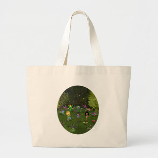 Musical Faerie Band in Enchanting Forest Jumbo Tote Bag