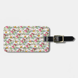 Musical Floral Luggage Tag