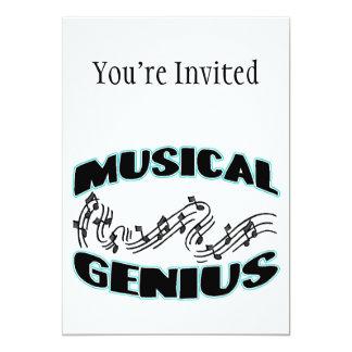 """Musical Genius Music Notes 5"""" X 7"""" Invitation Card"""