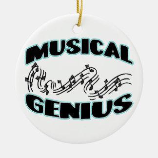 Musical Genius Music Notes Ceramic Ornament