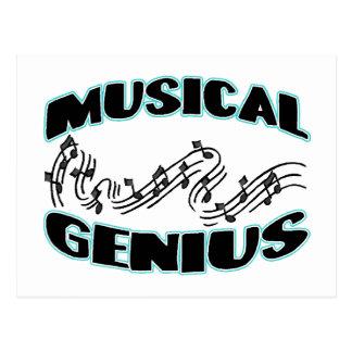 Musical Genius Music Notes Postcard