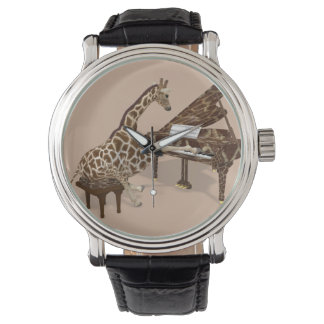 Musical Giraffe Playing Grand Piano Watch